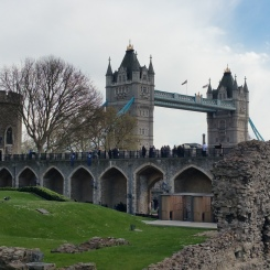 Inside the Tower of London.