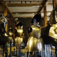 Some of the collections of the White Tower, showcasing the armoury of the line of Kings.