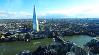 A nice view of the Shard and the River Thames.