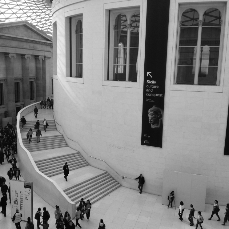The museun's inner courtyard, the Great Court.