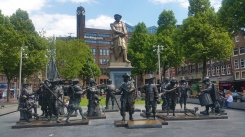 At the Rembrandt Square (Rembrandtplein), named after the famous Dutch painter Rembrandt Harmenszoon van Rijn.