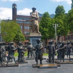 At the Rembrandt Square (Rembrandtplein), named after the famous Dutch painter Rembrandt Harmenszoon van Rijn.