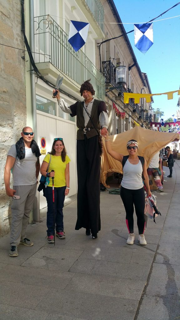 Passing through Sarria and meeting joyful people at the medieval fair.