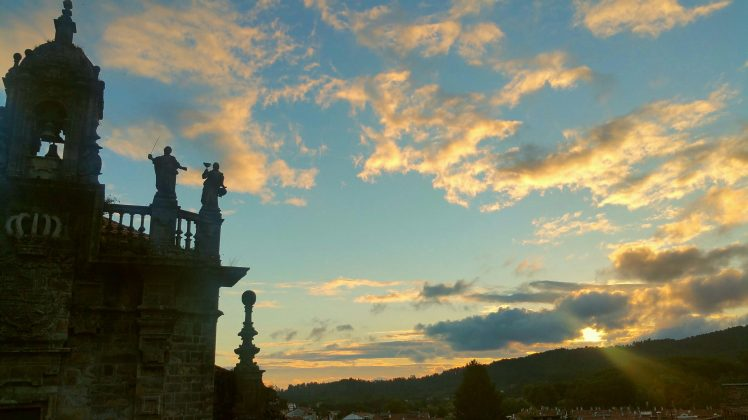 Such a dreamy sky! Seeing the sunset in Santiago de Compostela.