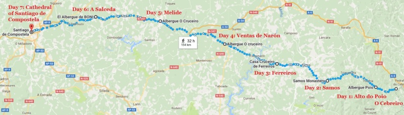 Route-from-O-Cebreiro-to-Santiago
