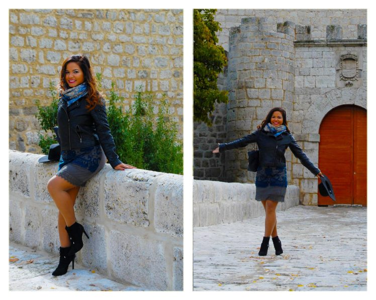 Posing near the castle of Simancas, which dates back to the last third of the 15th century.