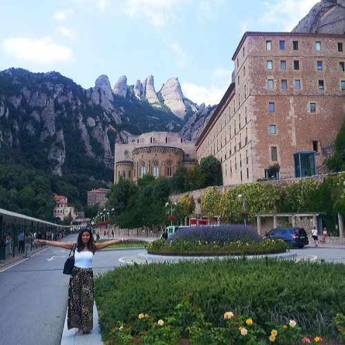 At Santa Maria de Montserrat is (a Benedictine abbey).