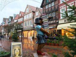 At Breite Strasse, the old city of Buxtehude.