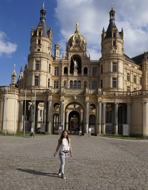 In front of Schwerin Palace.
