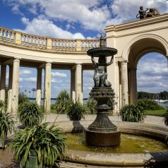 In the garden of the Schwerin Palace.