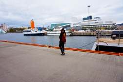 Oslo's Harbour and Opera House in the back