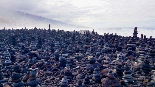 Stone Piles at Playa Jardin, Puerto de la Cruz (Tenerife)