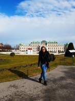 In front of Belvedere Museum Vienna
